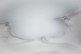 Baie volcanique blanchâtre, Leirhnjukur