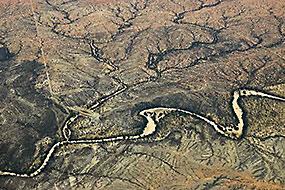 Vue aérienne - Namibie