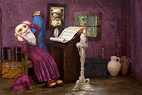 La caverne du magicien - Album Jeunesse - Illustrations Anne Moreau-Vagnon