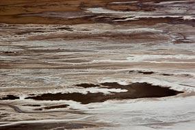 Le Badwater Basin est constitué de sel, il se trouve  à environ 85m sous le niveau de la mer