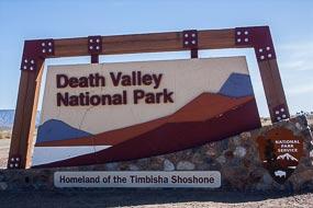 Panneau sur la route 190 à la sortie de La Vallée de la Mort.