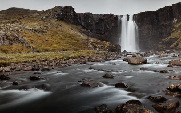 Cascade de Gufufoss, Islande