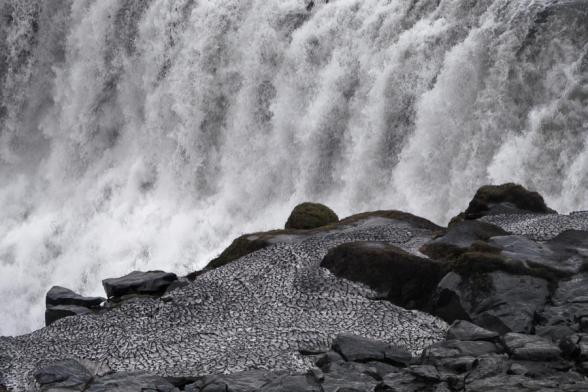 Cascade de Dettifoss, rive Ouest,, Islande