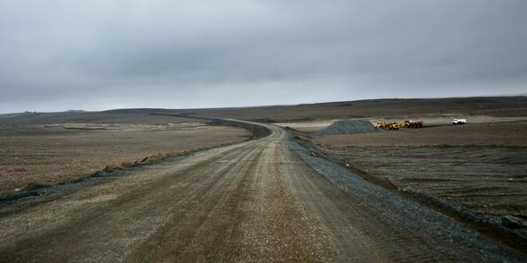Travaux sur la F 862 pour rejoindre la route N°1, Islande