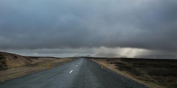 Sur la Route N°1 en direction du lac Myvatn, Islande