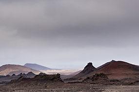 A proximité de Dettifoss, rive Ouest, Islande