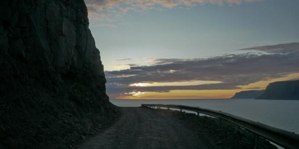 Route 612 qui mène à Latrabjarg, Islande