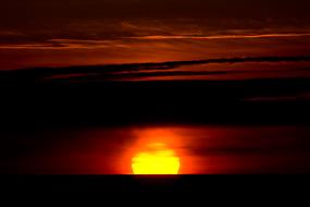 Coucher de soleil à Latrabjarg, Islande