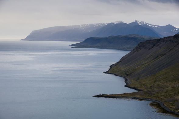 Point de vue sur la route 63, Fjords de l'Ouest, Islande
