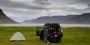 Camping de Dynjandi, Islande