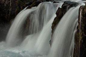 Cascade de Dynjandi ou Fjallfoss, Fjords de l'Ouest, Islande