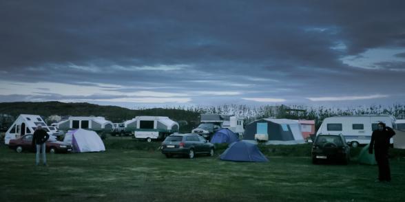 Camping bondé à Stykkis-Holmur, Péninsule de Snaefellness, Islande