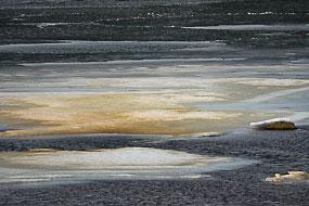 Texture de glace, Fjords de l'Ouest, Islande