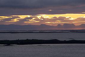 Coucher de soleil, Péninsule de Snaefellness, Islande