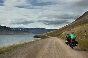 Vélos sur la route 60, Islande