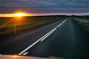 Route vers Stykkis-Holmur, Péninsule de Snaefellness, Islande
