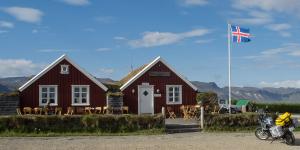 Accueil du camping d'Arnarstapi, il ne laisse en rien présager de l'état desatreux des sanitaires, Péninsule de Snæfellsnes, Islande