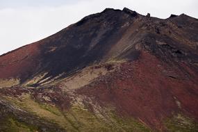 Coulée rhyolitique rouge, Péninsule de Snæfellsnes, islande