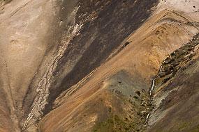 Texture d'un flan de montagne, Péninsule de Snæfellsnes, islande