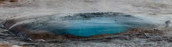 Le geyser Stokkur et la formation de la bulle bleue, Cercle d'or, Islande