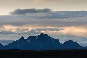 Paysage, vu du site de Gullfoss, Cercle d'or, Islande