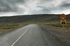 « Malbik endar », fin de route goudronnée, Islande
