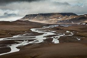 Paysage sur la F347 en direction de Kerlingarfjoll, Islande