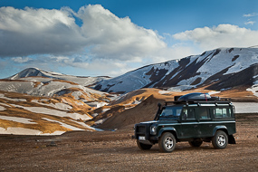 Defender à Kerlingarfjoll, Islande