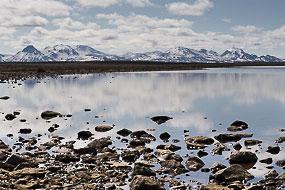 Petit lac avant d'arriver à Hveravellir sur la F35, Islande