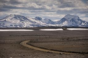 Paysage sur la F35, à proximité d'Hveravellir, Islande