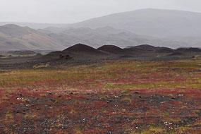 Sur la piste vers la ferme Stöng et la cascade d'Haïfoss, Islande