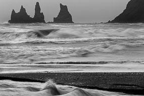 Vagues et ondulations, Vik, Islande