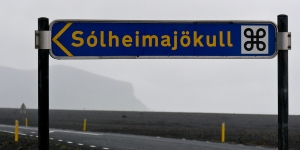 Panneau Solheimajokull, Islande