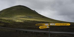 Croisement de la F225 et de la F208 vers Landmannalaugar, Islande