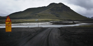Un gué sur la piste F225, Islande
