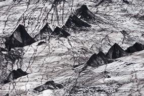 Glacier Solheimajokull, Islande