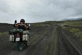 Moto sur la F225, Islande