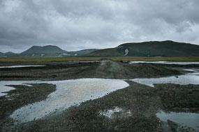 La F225 a été détrempée par la pluie, Islande