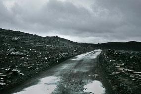 La F225 sous la pluie, Islande