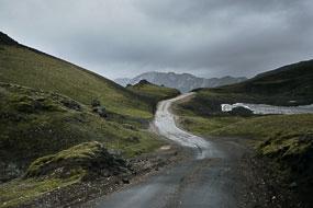 Sur la piste F208, Islande