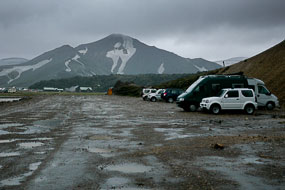 Arrivée au camping de Landmannalaugar, Islande