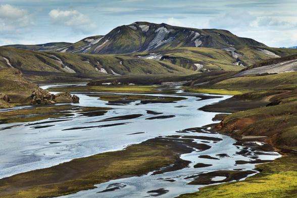 Paysage dans la réserve de Fjallabak, le long de la F208, Islande