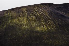 Coulées moussues, réserve de Fjallabak, Islande
