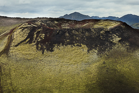 Pseudo-cratère, réserve de Fjallabak, Islande