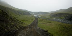 Piste F206, en redescendant du Laki, Islande