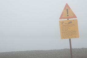 Sur la route vers le Laki, on voit à peine l'autre côté de la rivière pour traverser ce gué sur la F206, Islande