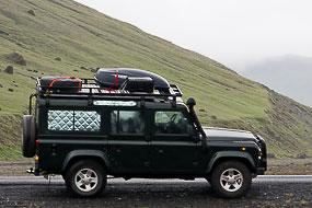 Defender sur la côte Sud. Islande