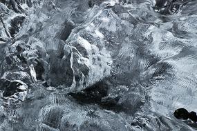 Détail de glace échouée sur la plage à proximité du lac Jokulsarlon, Islande