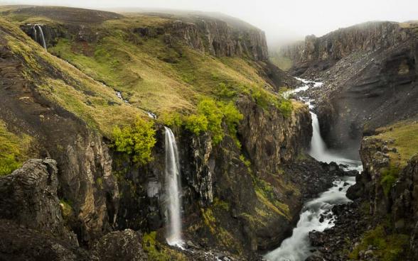 Cascades en contre bas de celle de Litlanesfoss