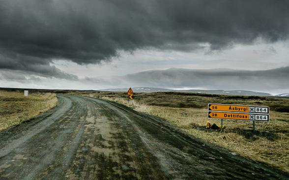 Sur la route 864 en direction du Nord, vers Dettifoss et Selfoss et Asbyrgi